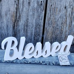 Blessed  table top decor or wall